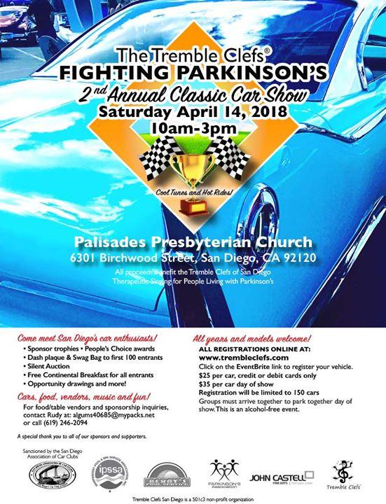 Tremble Clefs Nd Annual Classic Car Show At Palisades Presbyterian - San diego classic car show 2018
