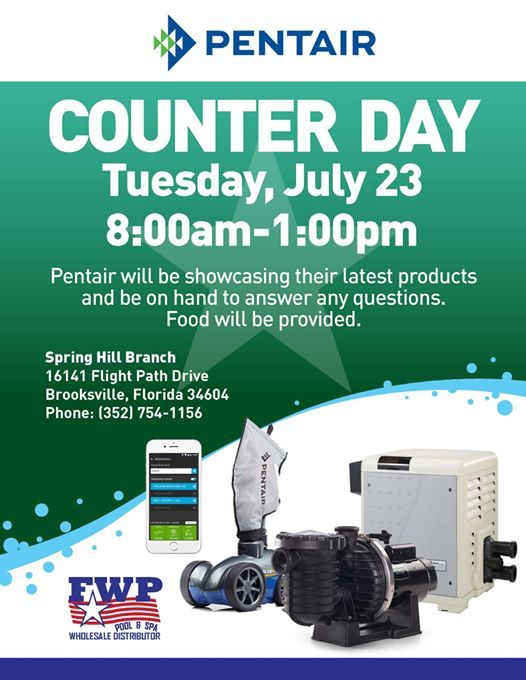 Pentair Counter Day at FWP Spring Hill | Spring Hill