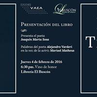 Presentacin del libro &quotEspacios Temporales&quot de Carmen Luisa Plaza