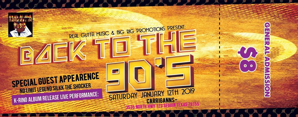 Back 2 The 90s with Special Guest Silkk The Shocker & K-Rino