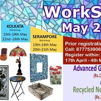 Advanced Glass painting &amp Recycled News Paper Workshop