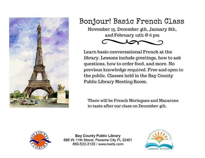 Bonjour basic french class at bay county public library panama city basic french class m4hsunfo