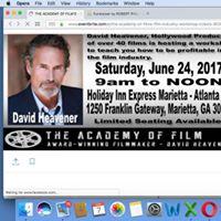 Filmmaking Workshop by Hollywoods Own David Heavener