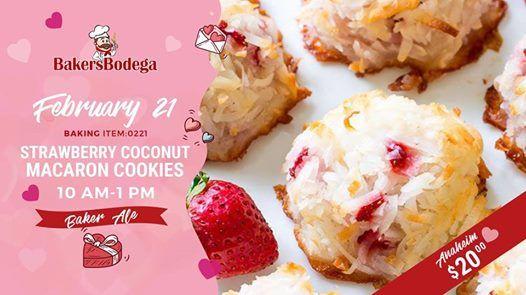 Strawberry Coconut Macaron Cookies