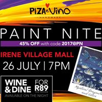 Paint Nite at Piza  Vino Irene Village Mall