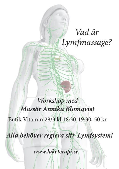 02c0928bffb Workshop om Lymfmassage at Butik Vitamin, Sundsvall