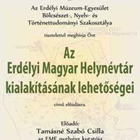 Tamsn Szab Csilla Az Erdlyi Magyar Helynvtr kialaktsnak lehetsgei