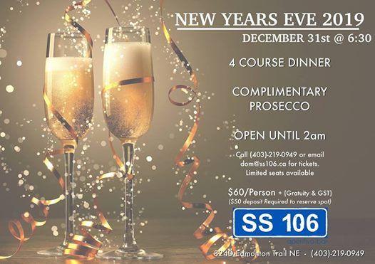 New Years Eve 2019 at SS106 Aperitivo Bar