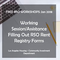 Free RSO Workshops - Filling Out RSO Rent Registry Forms