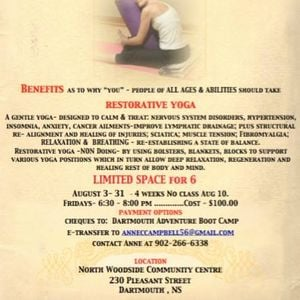 Restorative Yoga Classes At North Woodside Community Centre Dartmouth