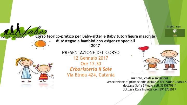 Corso teorico-pratico per Baby-sitter e Baby tutor