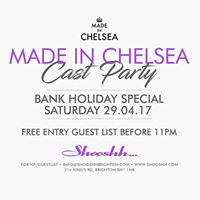 Made In Chelsea Cast Party at Shooshh Bank Holiday Saturday 29.04
