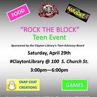 Rock The Block Teen Event