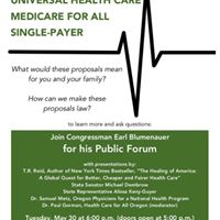 Universal Health Care Forum with Earl Blumenauer