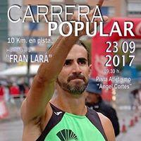 Carrera Popular 10km en Pista Homanaje a Fran Lara