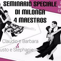 4 Maestros - Seminario di Milonga Catania  Show Paladanze