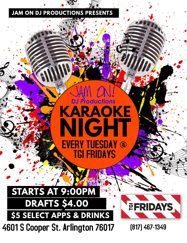 Karaoke at TGI Fridays