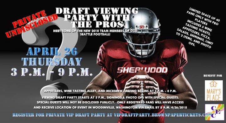 Draft Viewing Party By The Pros Benefit At Woodinville Woodinville