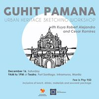 Guhit Pamana Urban Heritage Sketching Workshop