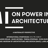 On Power in Architecture A Materialist Perspective