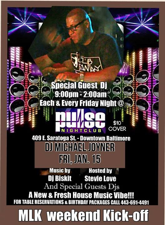 Pulse fridays present the mlk weekend kick off with for Michaels arts and crafts virginia beach