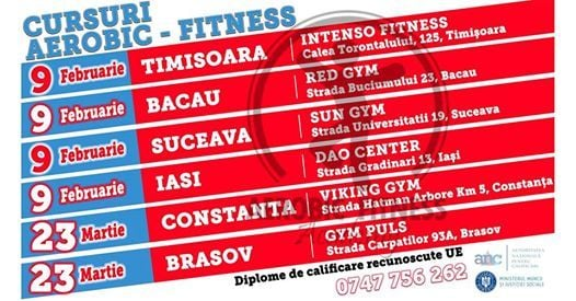 Brasov Curs Instructor Aerobic-Fitness & Personal Trainer