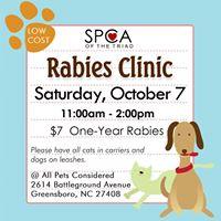 SPCA Rabies Vaccine Clinic