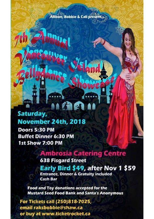 Belly Dance Showcase At Ambrosia Centre On Fisgard638 Fisgard St