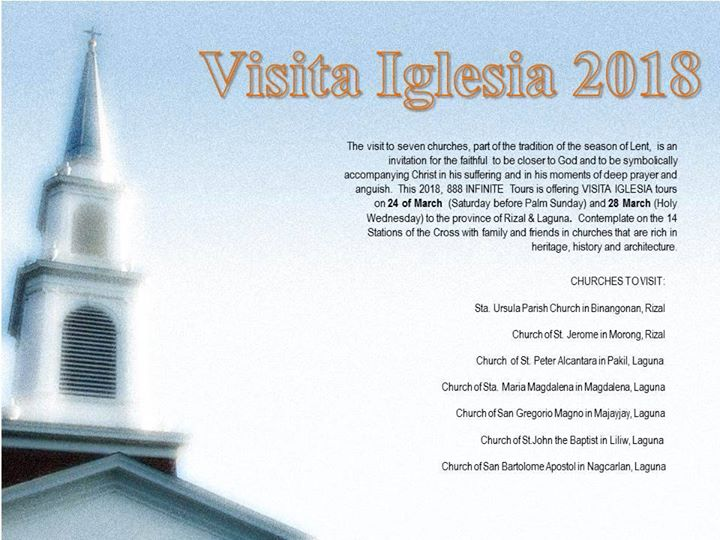 Visita Iglesia 2018 in Rizal and Laguna