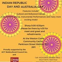Annual celebration of Australia Day and The Indian Republic Day