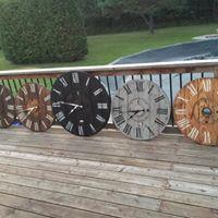 Rustic clock workshop