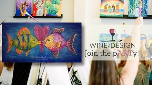Paint & Sip  Date Night Kissy Fish