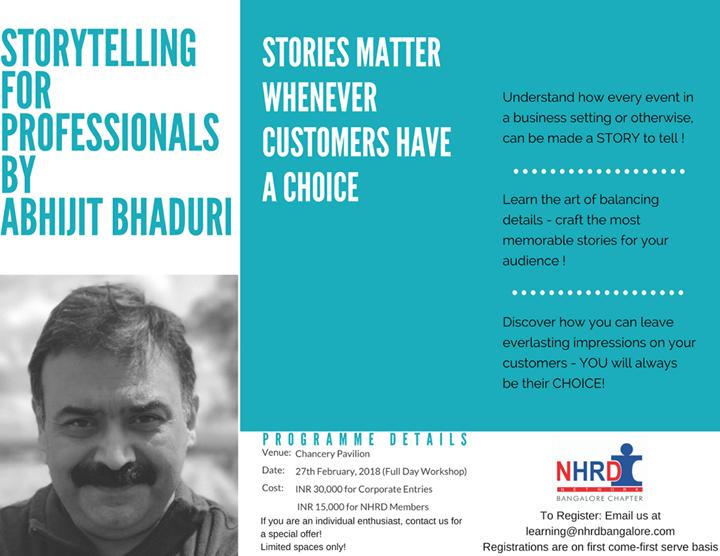 Storytelling by Abhijit Bhaduri