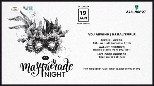Masquerade Night at Vapor Bar