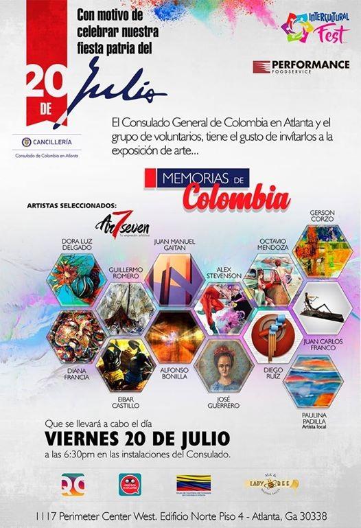 be7cc575a0 Memorias De Colombia   Exhibición de Arte at ConColombia
