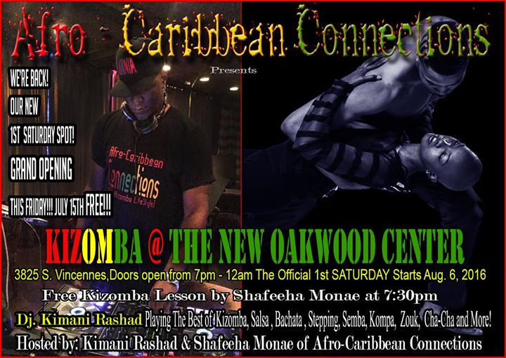 kizomba at the new oakwood center  grand opening  at 3825 s vincennes ave  chicago  il 60653
