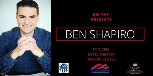 GW YAF Presents Ben Shapiro