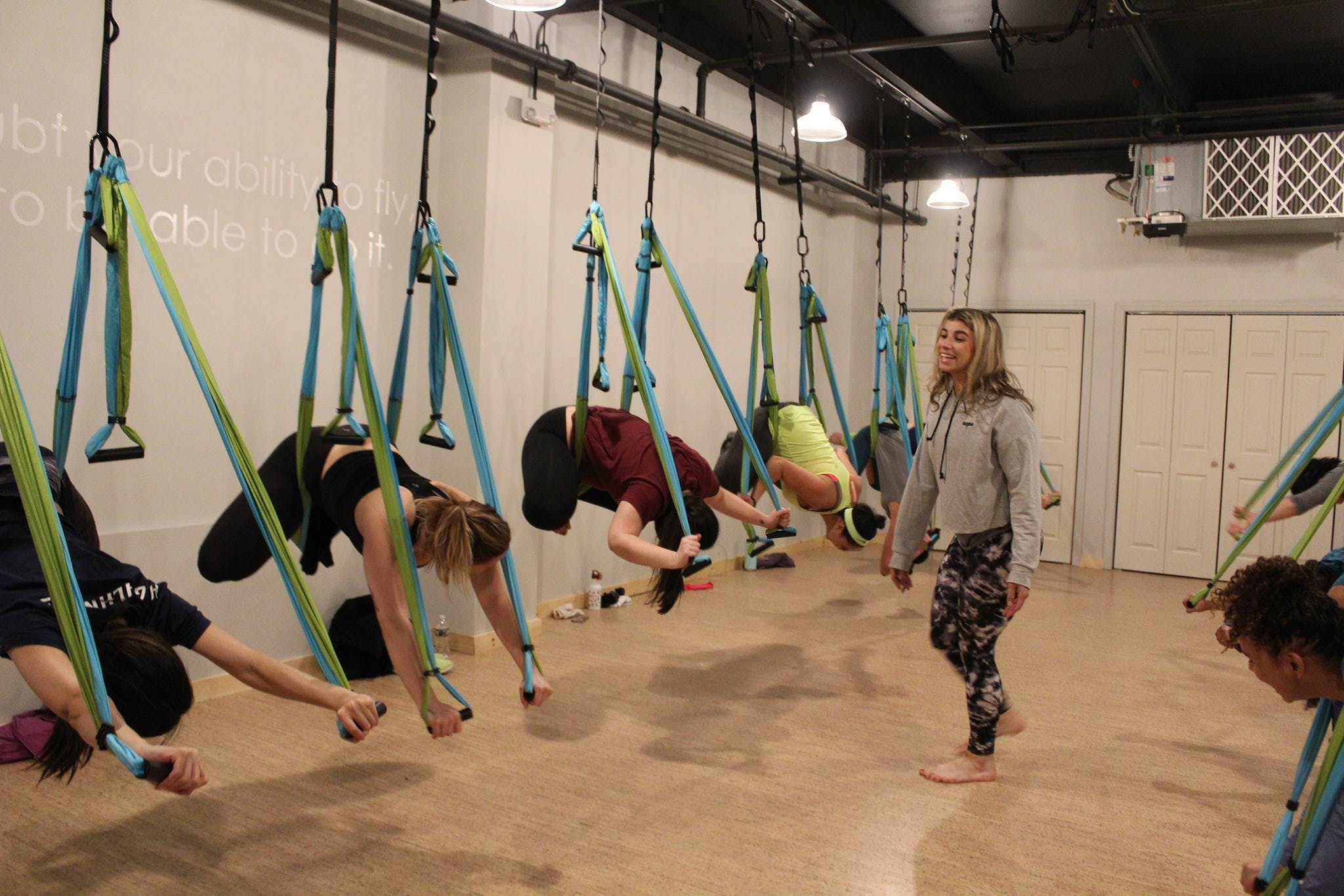 Trapeze Yoga and Brunch at Garden State Plaza | Paramus