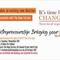 Entrepreneurship Bringing your Passion to Life