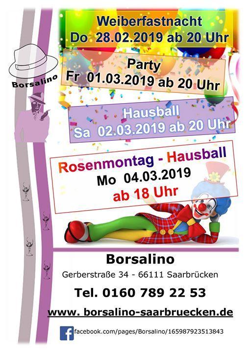 Fasching 2019 Party At Borsalino Gerberstr 34 66111 Saarbrucken