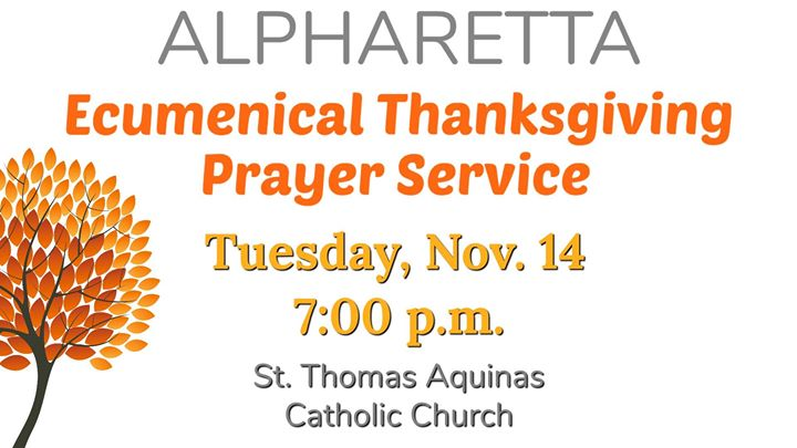 Alpharetta Ecumenical Thanksgiving Prayer Service