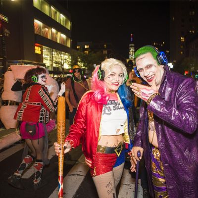 NYC Halloween Parade  We are in the Parade