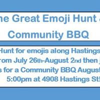 The Great Emoji Hunt &amp Community BBQ