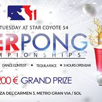 BEER PONG League  at Star Coyote  1st prize 200