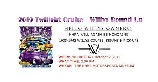 Willys Cruise Night 2019 at NHRA Motorsports Museum, Pomona