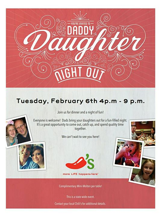 Daddy Daughter Night Out At Scripps Poway Chilis San Diego