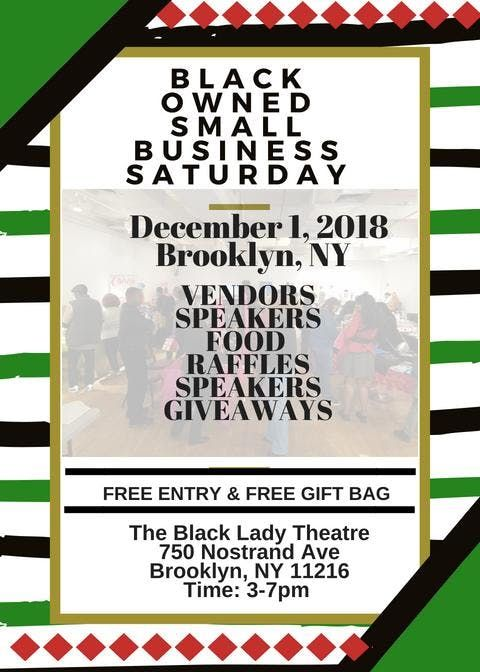 Black Owned Small Business Saturday BROOKLYN