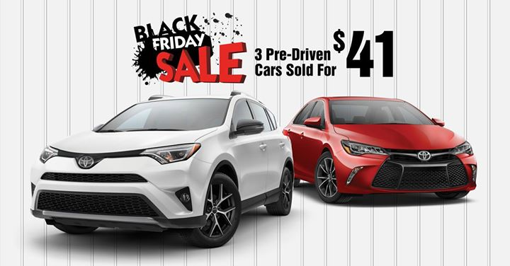 Marvelous 3 Cars Sold For $41   Black Friday Savings At Team Toyota On 41