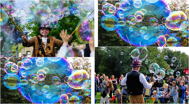 Bubble Festival at Shipley Country Park Derbyshire