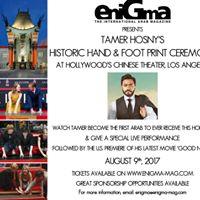 Tamer Hosnys Historic Hand &amp Foot Print Ceremony